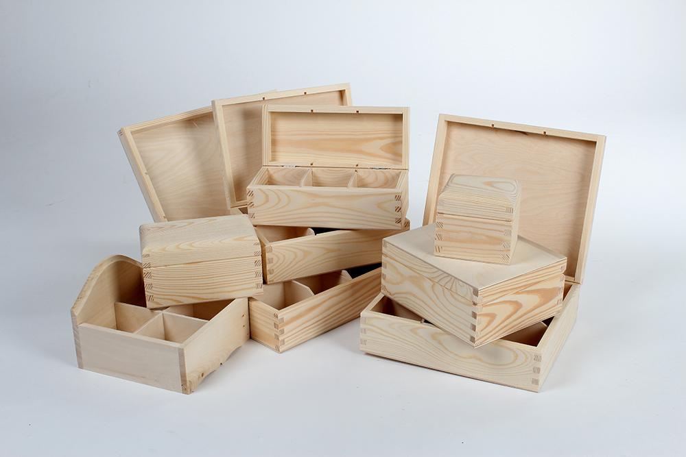 Ogromny Pudełko drewniane na herbatę H03 WOODEN WORLD, pudelka z drewna FG31